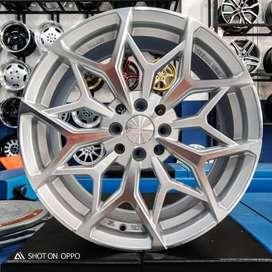 Velg Mobil Avanza HSR MYTH01 R17 warna Silver Polish