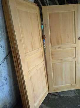 Promo pintu kusen baru solid kayu
