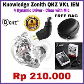 Knowledge Zenith QKZ VK1 IEM - 4 Dynamic Driver - Clear with mic
