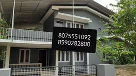 furnished 2Bhk up stair house rent aluva company pady garage