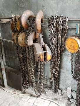 Chain blok/kerekan ex Japan original lawas kapasitas 10ton