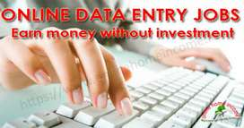 Urgent requirement online data entry girls and boys