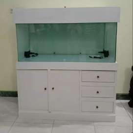 Meja aquarium panjang 120