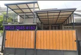 Kontruksi kanopi semi dak plat bordes harga permeter 182$#
