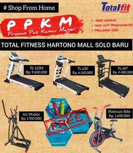 Treadmill elektrik//Totalfitness Hartono Mall Solo baru