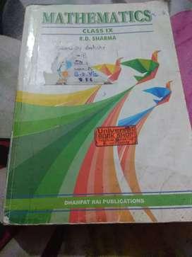 Mathamatics book R.D. Sharma,9th class, only cash accepted