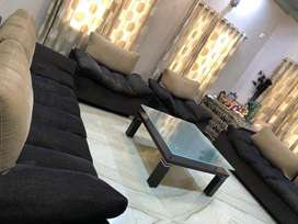 8 seater sofa set with centre table.