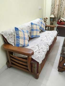 5 seater sofa(3+2), recently refurbished. & Dressing table