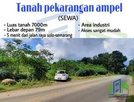 tanah untuk industrial di ampel (sewa)