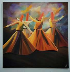 Oil Painting Whirling Dervish