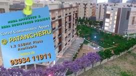 At Patancheru 1,2&3 Bhk in Gated Apartments
