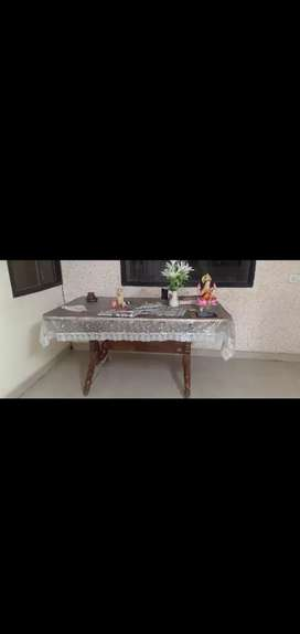 Dining table without chair tick wood