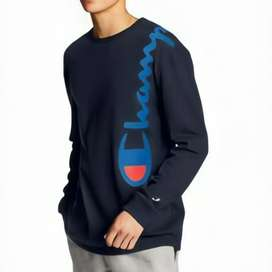 Champion long sleeve over the shoulders logo navy