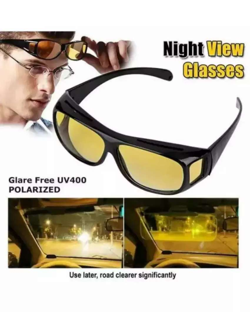 HD Vision Day and Night Drive Glasses 2 Pc's set 0