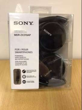 Sony ZX Series MDR-ZX310AP Headphone Stereo Headset - Black