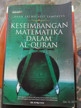 Keseimbangan Matematika Dalam Al-Quran, Abah Salma Alif Sampayya