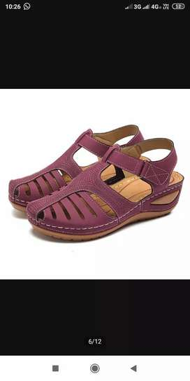 Sepatu sandal wedges import wanita ukuran 40 warna merah