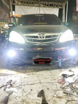 coustoom modifikasi lampu foglamp led engel eyes avanza plus pasang