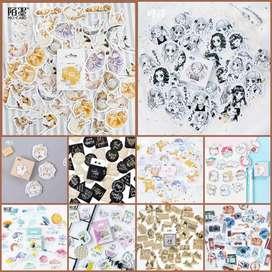 45pcs Sticker lucu sticker buku sticker laptop sticker scrapbook