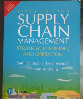 Supply Chain Management, strategy, planning & Operation