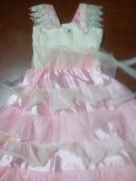 Baby pink frock part wear