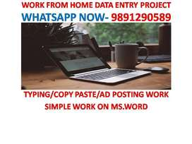 Data Entry and Copy Paste Online/Offline jobs with weekly payments.
