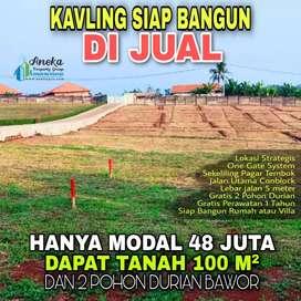 tanah darat di jual murah cm 480 per M², jalan cor lbr 4,5m