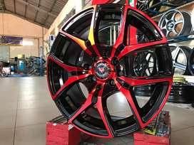Velg R15x6.5 H8x100-114.3 ET37 Vossen Red
