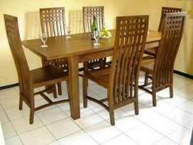 Meja makan jati 2545