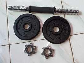 Barbell set 5kg atau dumbell iron plate 5kg import made berkwalitas