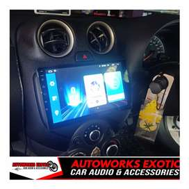 Autoworks exotic//Head unit android Nissan march 9inc+Frame