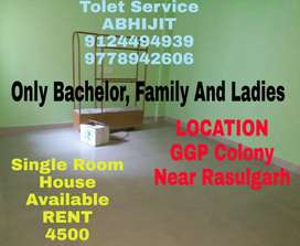 Single Room Attached Bathroom with Kitchen Near Rasulgarh To Bomikhal