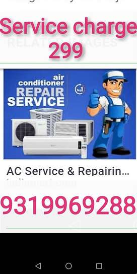 Ghaziabad me Sabse kam rate me AC service Gas filling