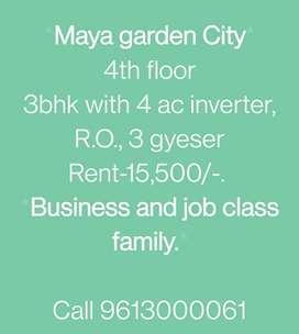 3BHK Maya Garden City (4 AC, 3 Gyser, R.O., Chimney)