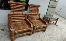 Bamboo Chair Table Set(5 Seater)