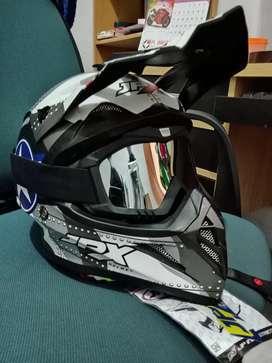 Helm JPX cross untuk trail atau downhill motif bintang