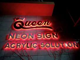 Huruf Timbul Backlight Stainless Hairline | DSIGNS