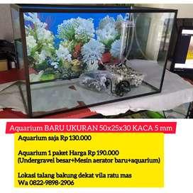 Aquarium berbagai ukuran (BARU)