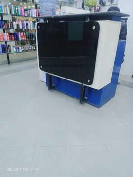 Shop counter and shalves + cash counter + mirror cabnit