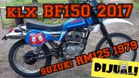 Trail jadul model suzuki RM125 1979, besik klx bf 2017