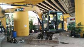Tanah stripping pengurugan land clearing cut and fill excavator pc50