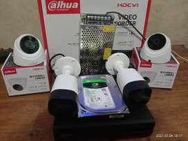 Cctv Dhua 4 ch 4 camera sukatani