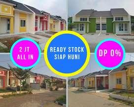 Rumah minimalis 2jt all in tanpa dp ready stock dekat stasiun