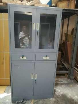 lemari Arsip | lemari Besi pintu kupu-kupu kombinasi Kaca plus Laci
