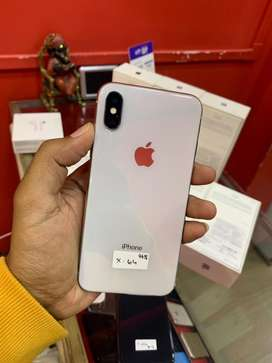 iphone x silver (64gb) in showroom condition