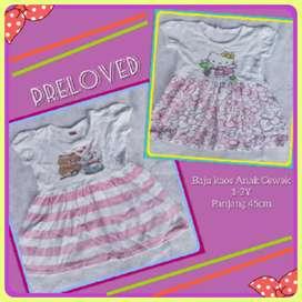 Dress kaos pink anak perempuan