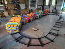 Mainan odong mini coaster rel oval RA