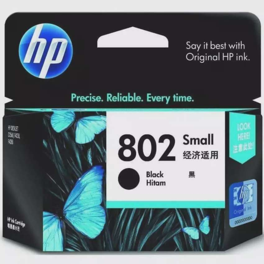 Cartridge HP 802 bk 0