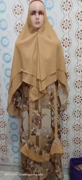 Gamis sari + Hijabnya