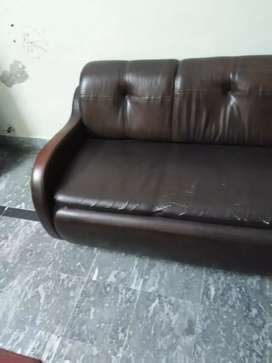 Two seater lather sofa